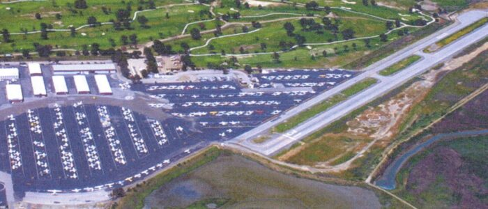 Aerial view of Palo Alto Airport